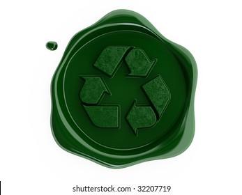 green wax recycling symbol