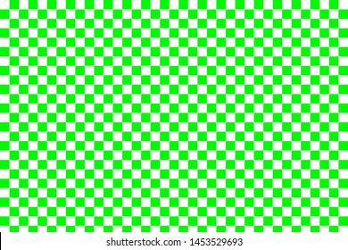 Green and white checkered background