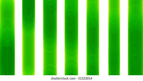 Green and White Pillars