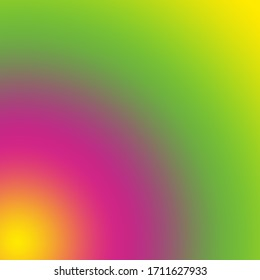 Green Yellow and pink gradient blurred and blur. Abstract colorful banner texture.  Banner poster template. Pattern wallpaper for backdrop background. Business brochure cover wed design.