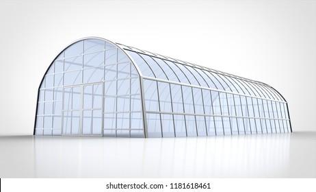greenhouse closeup 3d rendering