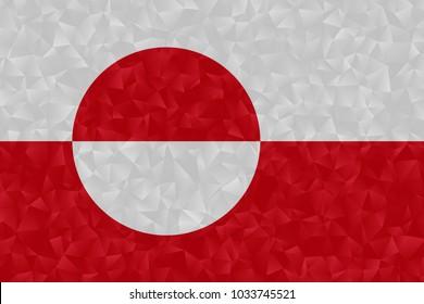greenland flag polygonal design illustration