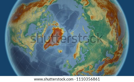 Greenland Neighborhood Distant Perspective Without Outline Stock ...