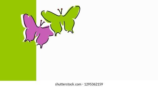 Greeting card Butterflies
