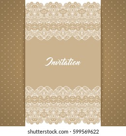 greeting card invitation template retro style stock illustration