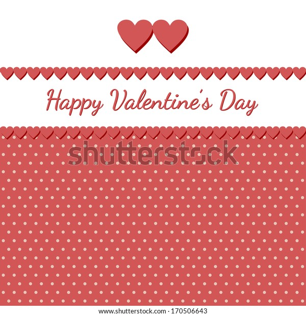 Greeting card for Valentine's day. Raster version