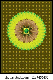 Greetings card with traditional sri lankan design.you can add your own text.