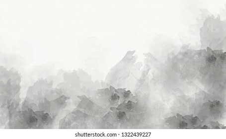 Grey abstract watercolor background