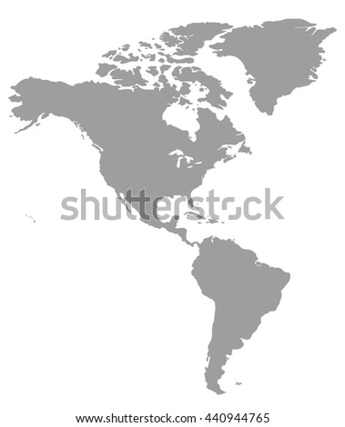 Grey America Map America Map Blank Stockillustration ...