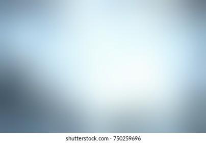 Grey blue metallic empty background. Steel vignette abstract texture. Silver blurred background. Glare metal defocused illustration.