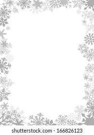 Grey Christmas card frame and background