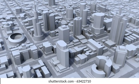 Grey city district concept