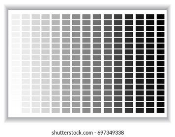 Grey colors palette. Color shade chart.