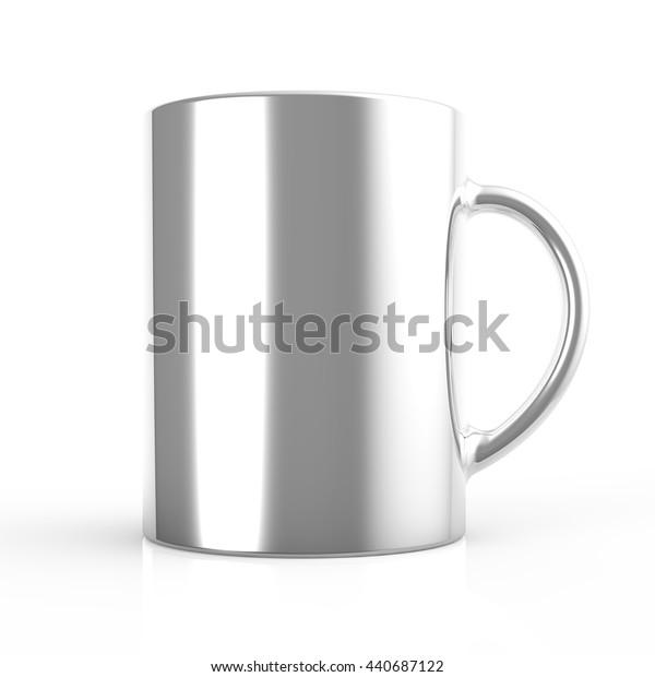 Grey cup 3D render
