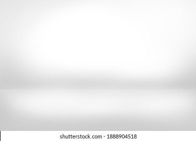 Grey empty background paint like graphic white gradient studio with shadow used for ad, production, template, wallpaper, presentation, modern backdrop
