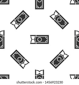 Grey Fast payments icon isolated seamless pattern on white background. Fast money transfer payment. Financial services, fast loan, time is money, cash back concept