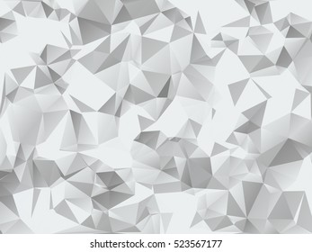 Grey Geometric Modern Low Poly Abstract Background