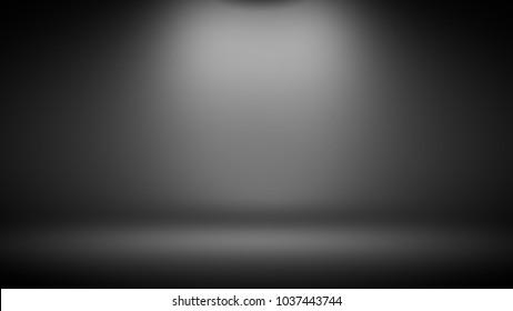 Grey gradient abstract studio background. 3d illustration