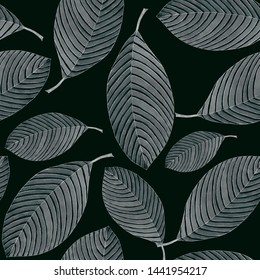 Grey graphic sleaves on black backgroun seamless pattern for all prints on hand drawing style.