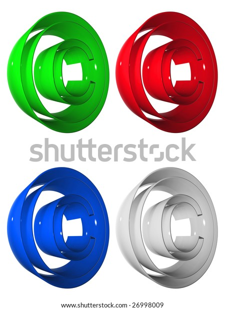 grey, green, red and blue 3D symbols collection rendered at maximum quality ideal for web,business, or conceptual designs,isolated on white background