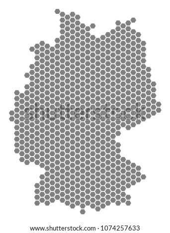Map Of Germany To Color.Royalty Free Stock Illustration Of Grey Hexagon Germany Map Raster