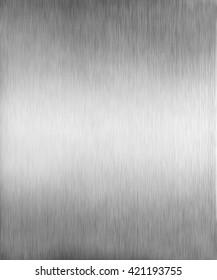 Grey metal texture. Brushed aluminium background.