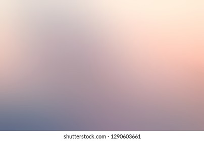 Grey pink ombre pattern. Cloudy rosy dawn sky empty background. Abstract texture. Blurred illustration. Defocus template.