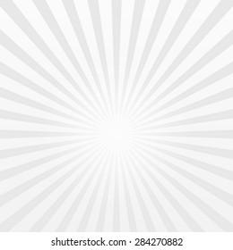 Grey retro striped sun burst background.