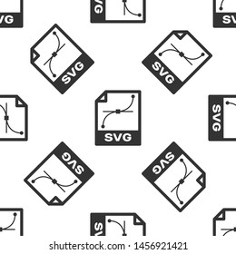 Grey SVG file document icon. Download svg button icon isolated seamless pattern on white background. SVG file symbol