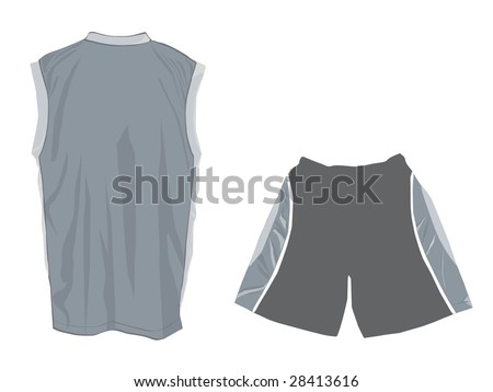 Royalty Free Stock Illustration Of Grey Tank Top Design Template