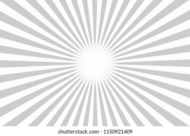 Grey Texture Background With Sunburst, Illustration