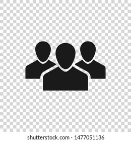 Grey Users group icon isolated on transparent background. Group of people icon. Business avatar symbol - users profile icon
