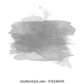 Grey watercolor splash