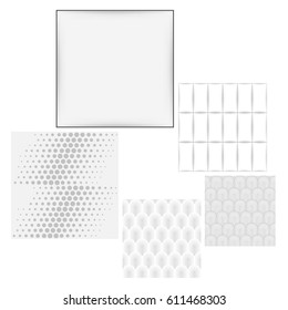 Grey white seamless background set - Shutterstock ID 611468303