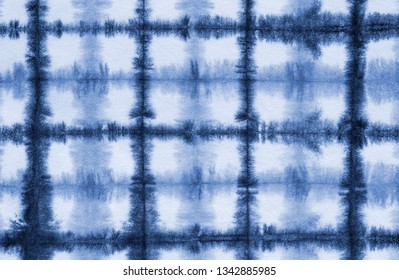 grid tie dye pattern hand dyed on cotton fabric abstract background.