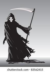 Grim Reaper illustration - raster version