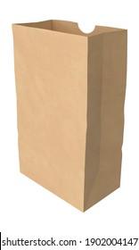 Grocery Bag 3D illustration on white background