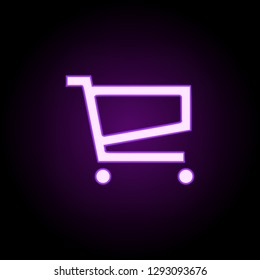 grocery shopping icon. Elements of web in neon style icons. Simple icon for websites, web design, mobile app, info graphics