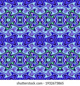 Groovy Ornate Trippy Retro Abstract Seamless Pattern