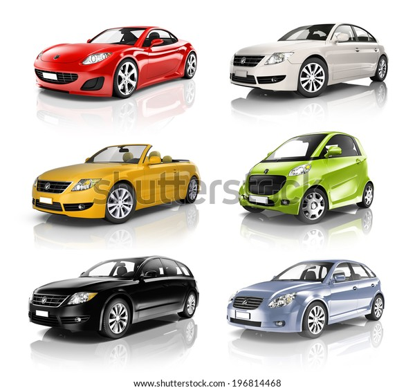 Group of 3D Cars
