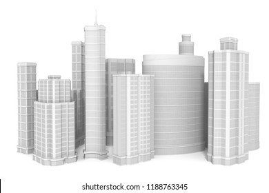 Group of buildings. 3D illustration
