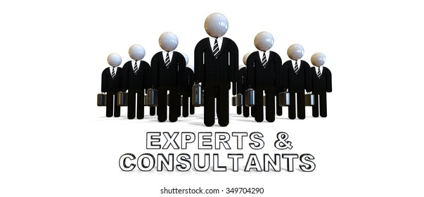 a group of business people in black suits / Business People / Experts and Consultats