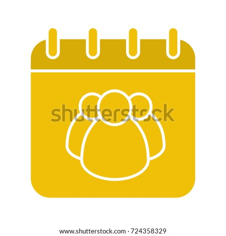 Group Calendar Glyph Color Icon Team Stock Illustration 724358329