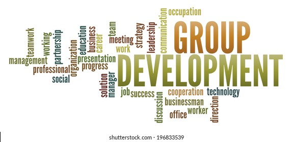 Group Development  in word collage