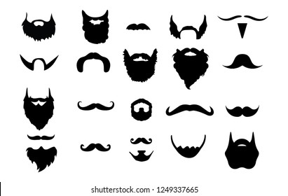 A group of different beards I created from mustaches to full grown beards.
