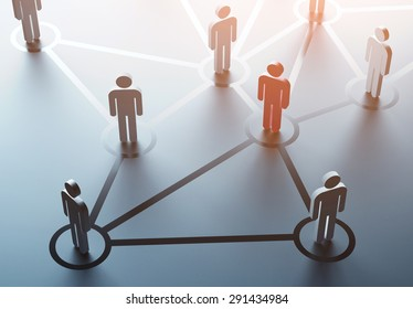 group of people talking in social network