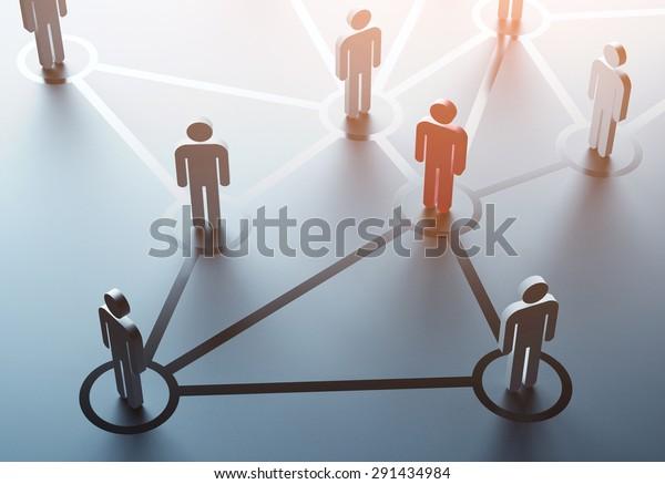 group of people talking in social network