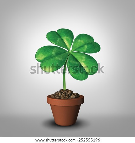 Growing Your Luck Four Leaf Clover Stock Illustration 252555196