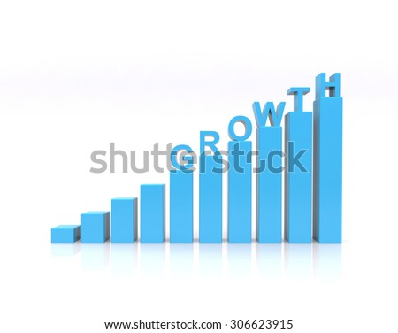 Growth Text On Growth Chart Stock Illustration 306623915 Shutterstock