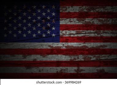 grunge American flag, USA flag